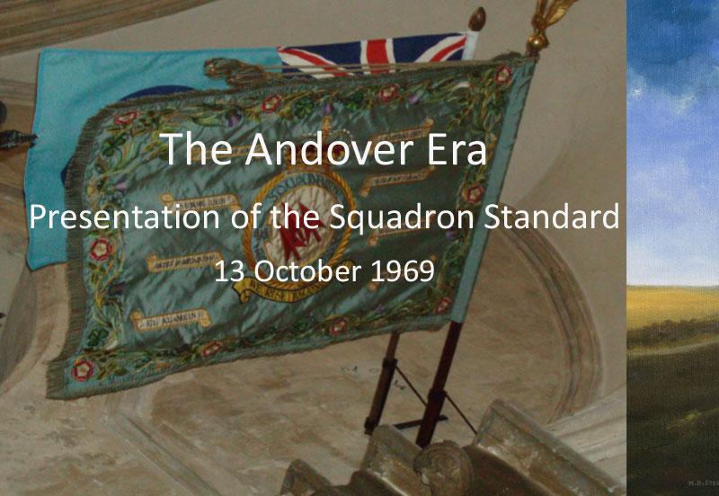 Andover Era Presentation of Squadron Standard