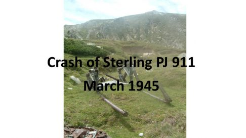 Crash of Sterling PJ 911. March 1945